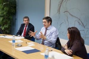 Reunión para impulsar la ley de transparencia con el Gobierno Vasco